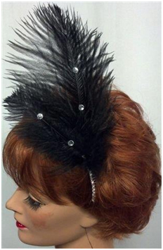 1920s hair feather costume