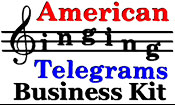American Singing Telegrams Business Kit