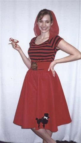 For A More Sophisticated Look This Red Poodle Skirt Is Something You Would Want To Sport In Your Next 50s Party Paired With Letdown Ribbon That