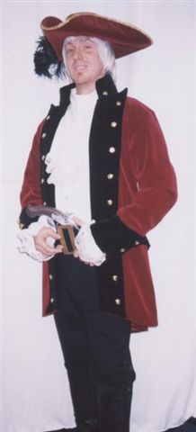 18th Cent 1700's Costumes -Captain - Pirate - Colonial Man - American Costumes Las Vegas