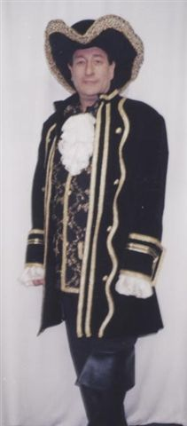18th Cent 1700's Costumes -Captain - Pirate -Colonial Man - Mozart - American Costumes Las Vegas