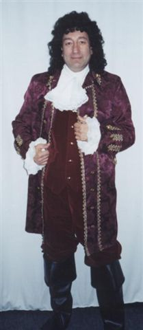 18th Cent 1700's Costumes -Captain - Pirate -Colonial Man   - American Costumes Las Vegas