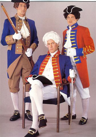 18th Cent 1700's Costumes -British - Redcoat- Colonial Militia -Colonial Army - American Costumes Las Vegas