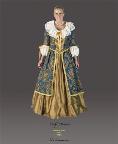 18th Cent 1700's Costumes - Colonial Woman - Mozart - American Costumes Las Vegas