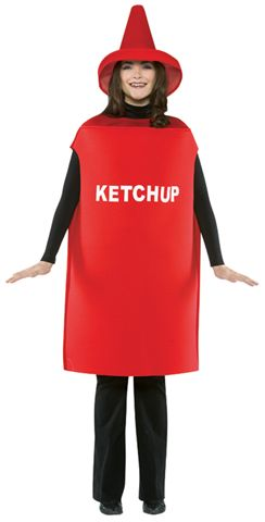 Food and Drink Costumes -Ketchup-Catchsup - Catsup - American Costumes Las Vegas