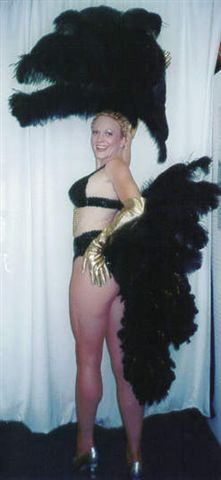 Las Vegas Costumes Black Bikini  Las Vegas Showgirl Costume and Fantail - American Costumes Las Vegas