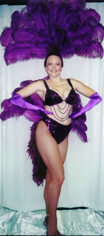 Las Vegas Costumes Royal Purple Las Vegas Showgirl Costume Bikini style and Fantail - American Costumes Las Vegas