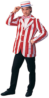 Twenties Costumes Red and White Striped Blazer Las Vegas - American Costumes Las Vegas