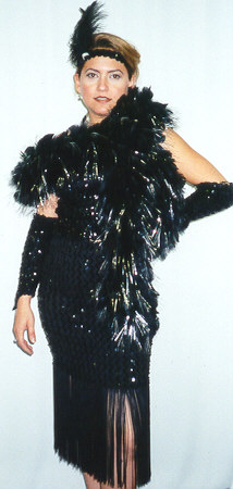Twenties Costumes Black Sequinned Flapper - American Costumes Las Vegas